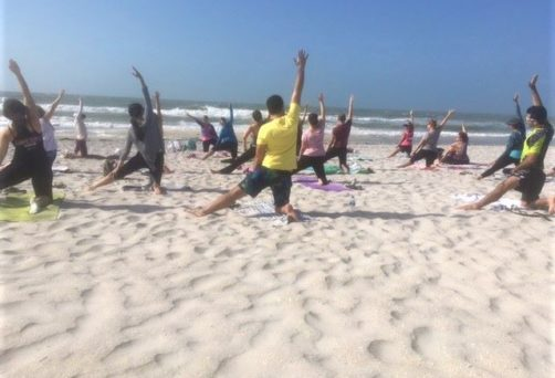 Free Beach Yoga Day