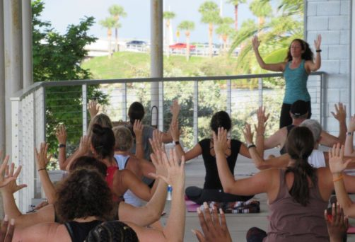 Free Yoga Friday on the Patio