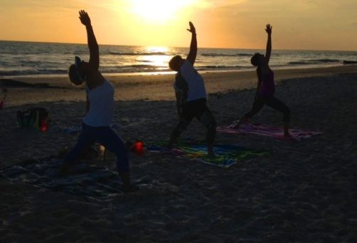 Free Sunset Beach Yoga