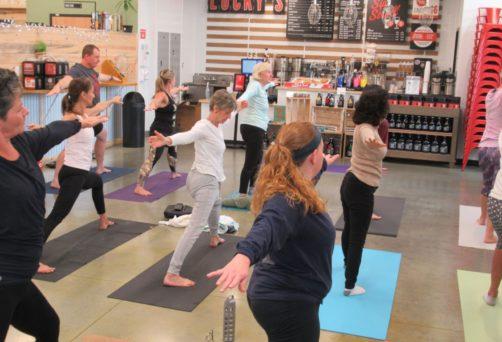Lucky's Market Yoga Brunch