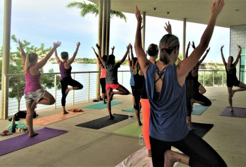 Pop Up Yoga on the Patio