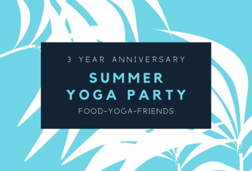 Summer Yoga Party on the Patio
