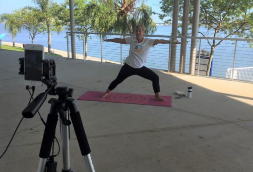 Live Zoom Pop Up Patio Flow Yoga