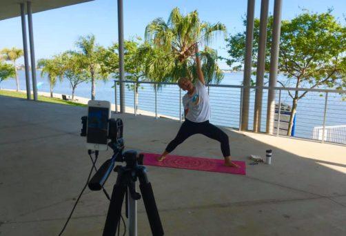 Live Zoom Pop-Up Patio Flow Yoga