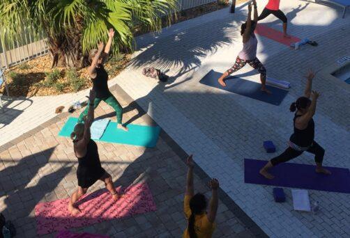 Poolside Yoga