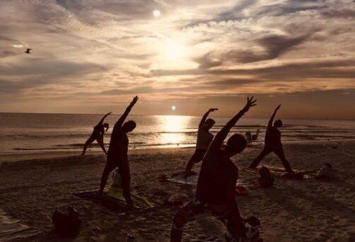 Pop Up Sunset Beach Yoga