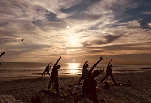 Pop-Up Sunset Beach Yoga