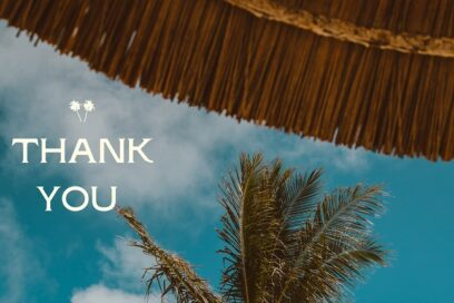 A Note of Thanks Addressed to You